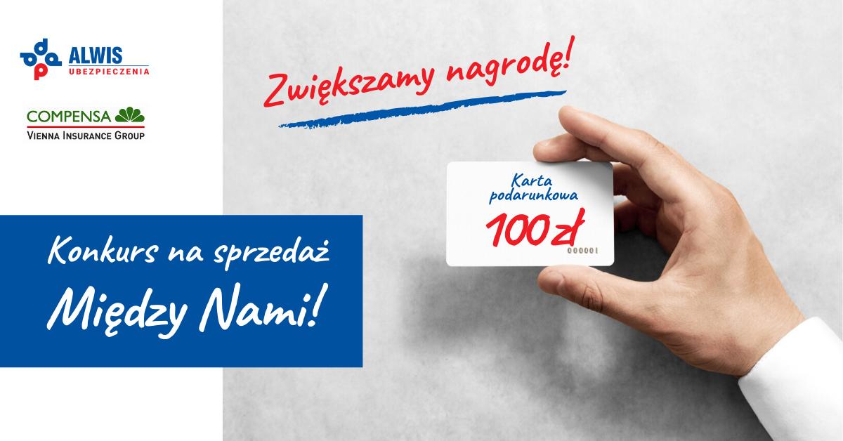 """KONKURS: za sprzedaż """"Między Nami"""" Compensa. ZWIĘKSZAMY NAGRODĘ DO 100 zł!"""